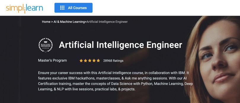 Image Deep Learning Courses - AI Engineer, Simplilearn