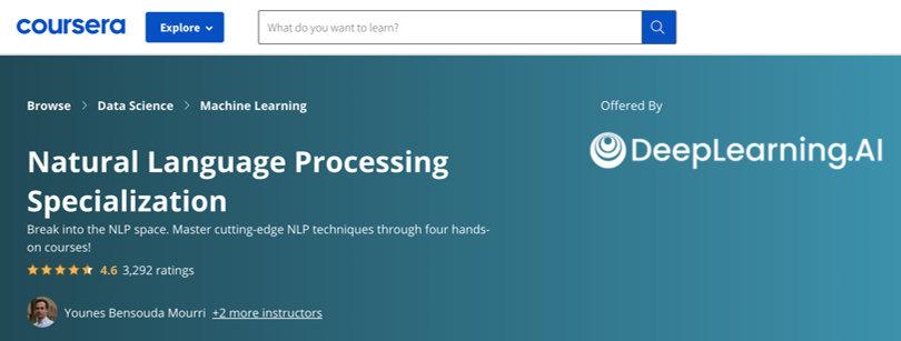 Image Deep Learning Natural Language Processing, Coursera