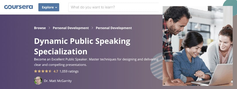 image of Best Public Speaking Courses - Dynamic Public Speaking Coursera