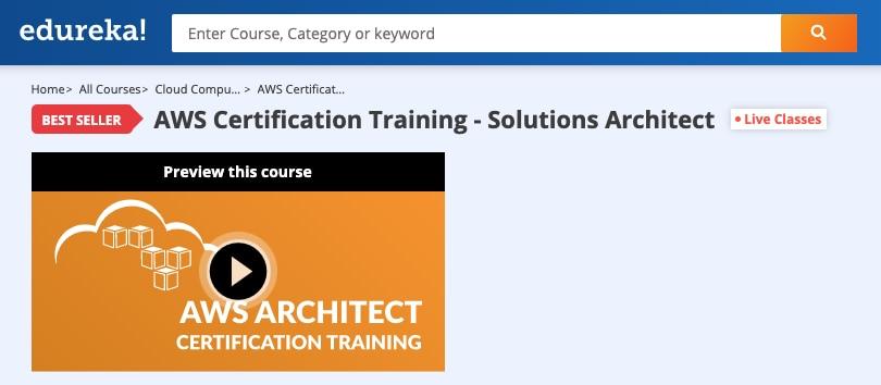Image Edureka Courses - AWS Architect Certification Training