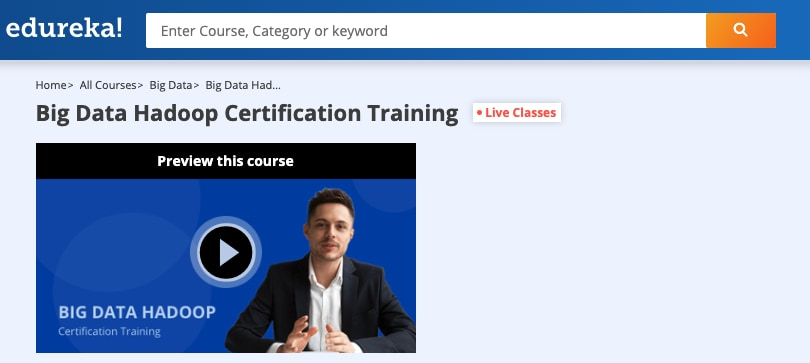 Image Edureka Courses - Big Data Hadoop Certification Training