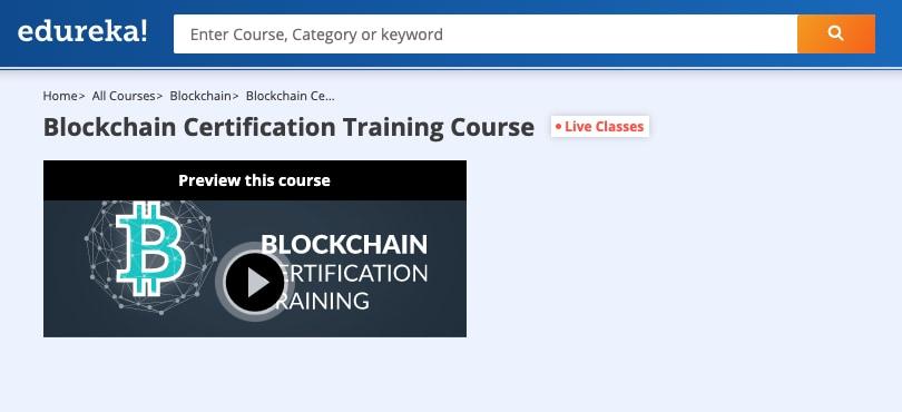 Image Edureka Courses - Blockchain Certification Training