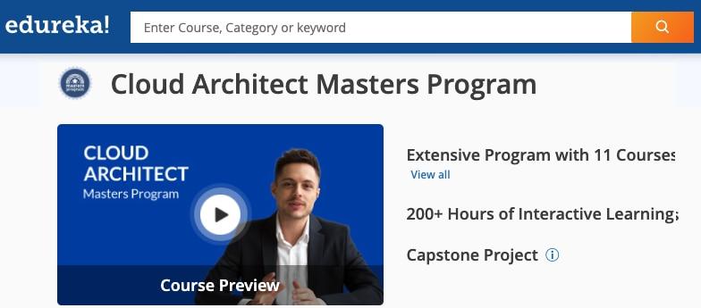 Image Edureka Cloud Architect Masters Program