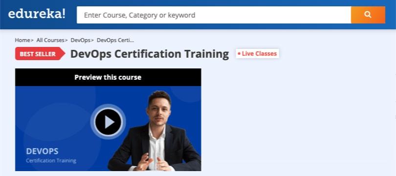 Image Edureka Courses - DevOps Certification Training