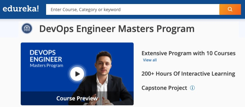 Image Edureka DevOps Engineer Masters Program