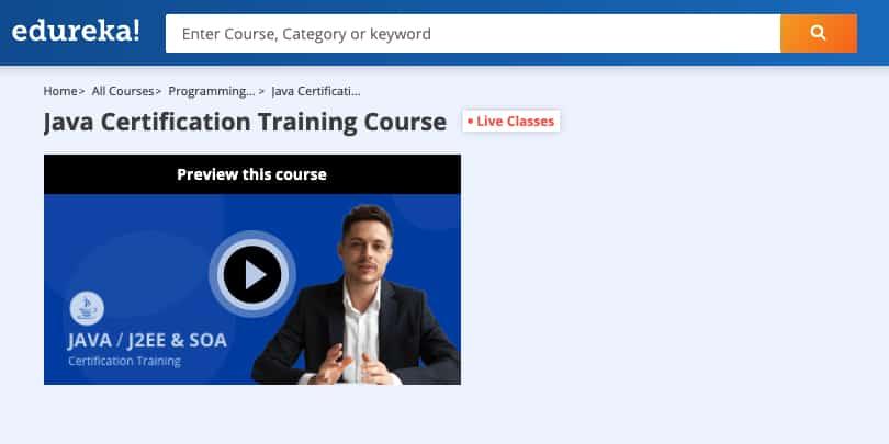Image Edureka Courses - JAVA Certification Training