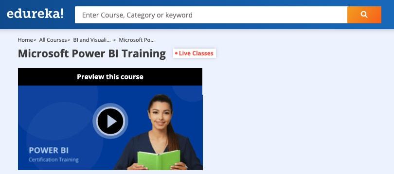 Image Edureka Courses - Microsoft Power BI Certification Training