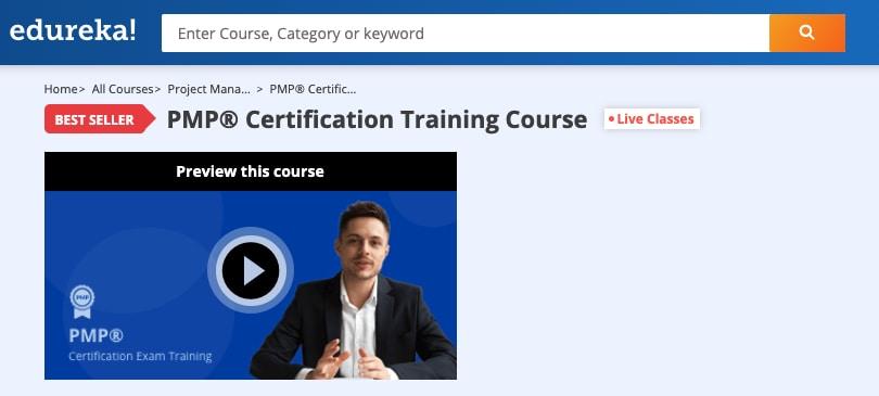Image Edureka Courses - PMP Certification Training