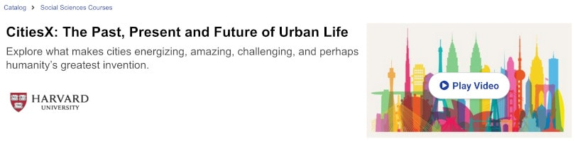 Image of Best edX Courses - CitiesX Urban Life by Harvard