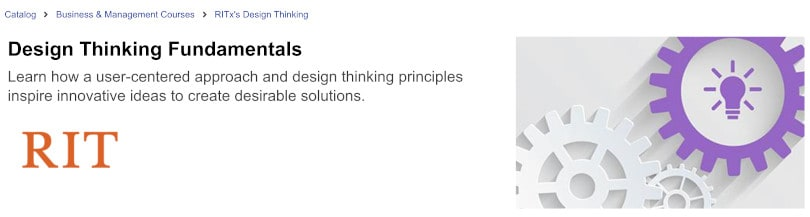 Image of Best edX Courses - Design Thinking Fundamentals by RIT