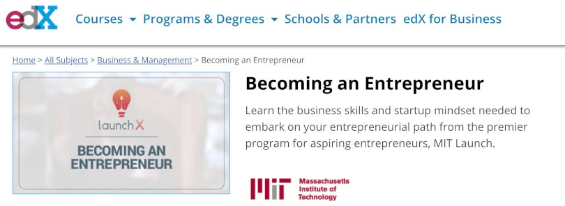 Image of Best edX Courses - Becoming an Entrepreneur by MIT