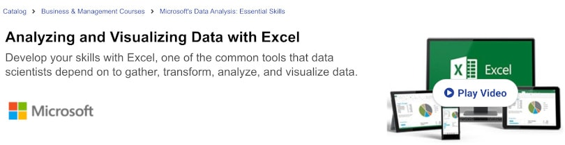 Image of Best edX Courses - Analyzing Data with Excel by Microsoft