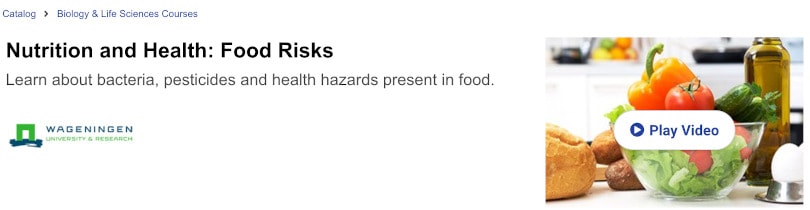 Image of Best edX Courses - Nutrition and Health: Food Risks by Wageningen University