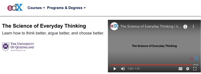 Image Best Productivity Courses - edX - The Science of Everyday Thinking