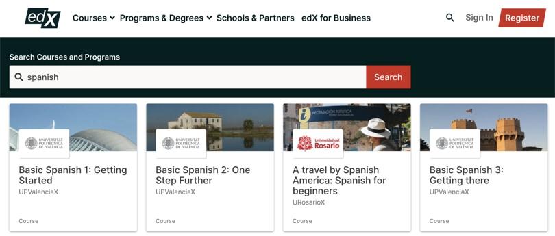 Image edX - Spanish Courses Online