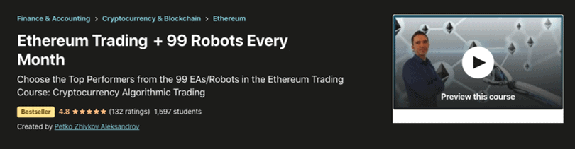 Image Cryptocurrency Course - Ethereum Trading + 99 Robots Every Month