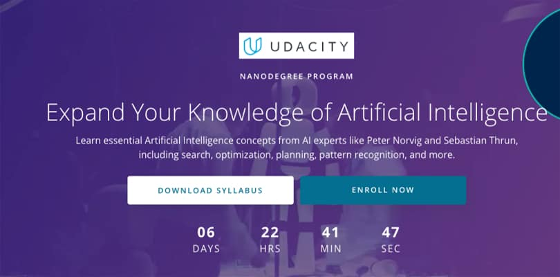 Image Best AI Courses - Expand your knowledge of artificial intelligence, Udacity