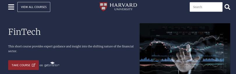 Image Best Fintech Courses - 8. FinTech - Harvard University