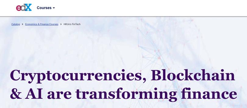 image fintech professional certificate blockchain - edX
