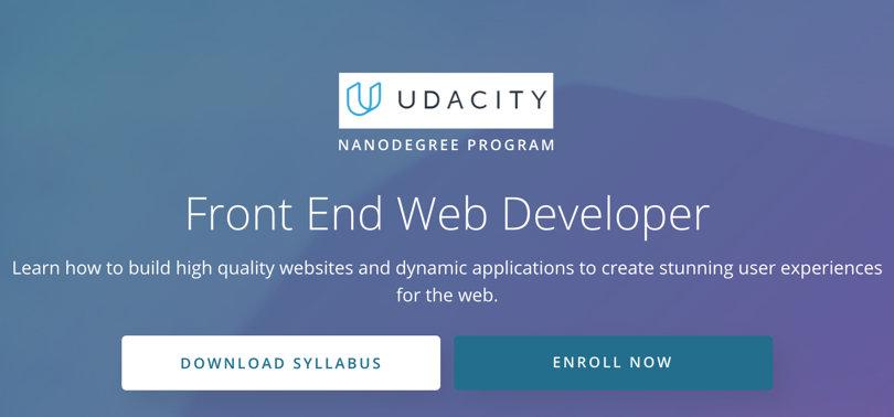 Image HTML & CSS Courses - Frontend Web Developer, Udacity