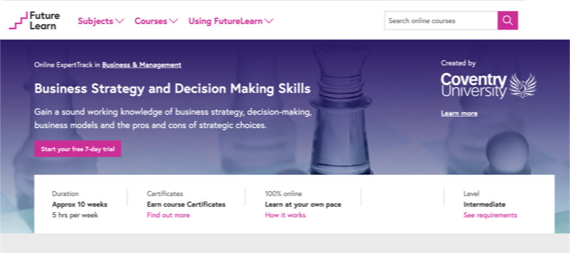 Image Best FutureLearn Courses - Business Strategy & Decision Making