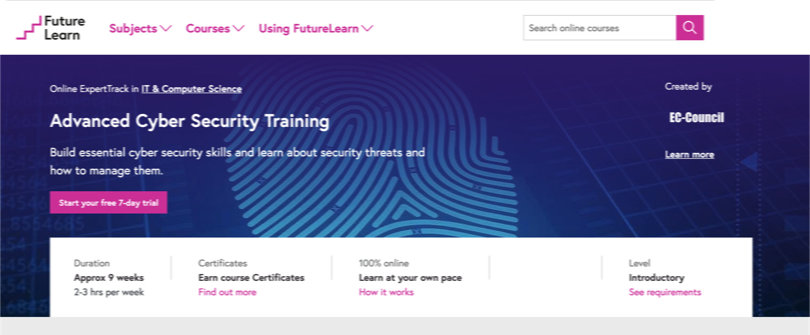 Image Best FutureLearn Courses - Advanced Cyber Security Training
