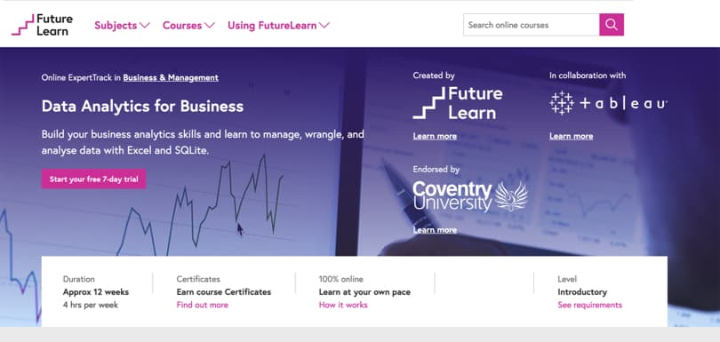 Image Best FutureLearn Courses - Data Analytics for Business