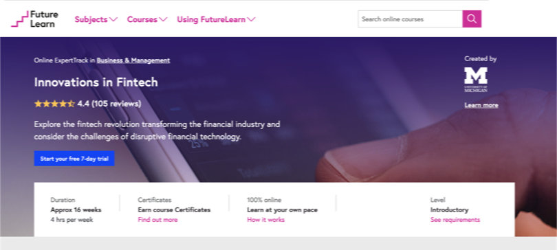 Image Best FutureLearn Courses - Innovations in Fintech