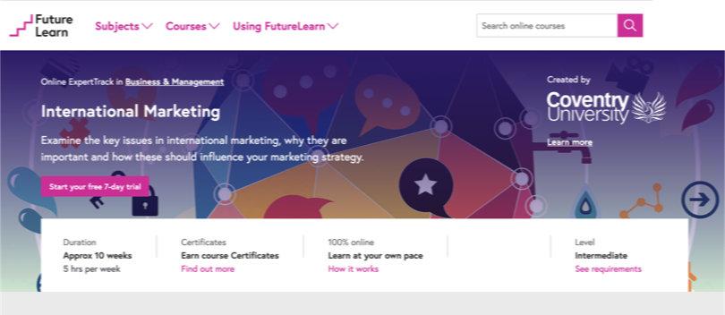 Image Best FutureLearn Courses - International Marketing
