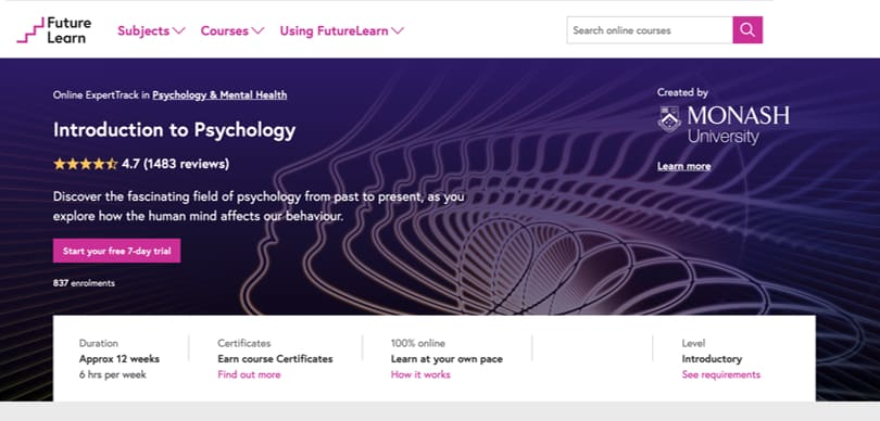 Image Best FutureLearn Courses - Introduction to Psychology