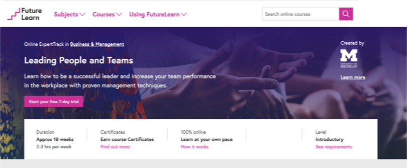 Image Best FutureLearn Courses - Leading People and Teams