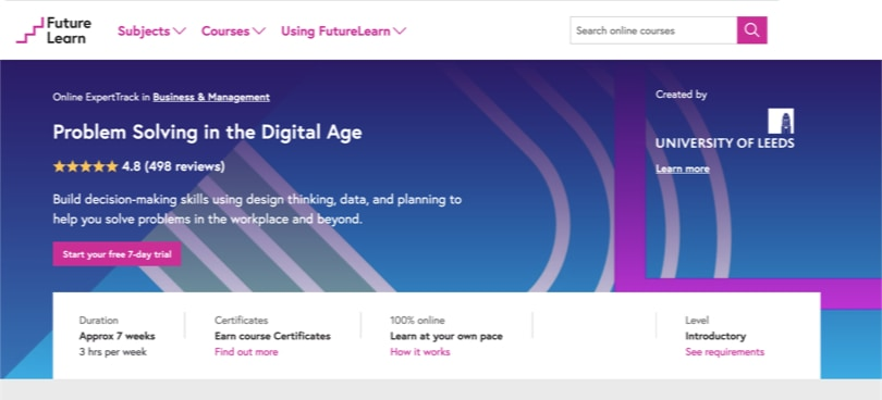 Image Best FutureLearn Courses - Problem Solving in the Digital Age