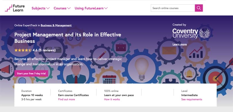 Image Best FutureLearn Courses - Project Management and Its Role in Business