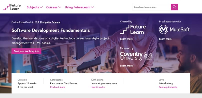 Image Best FutureLearn Courses - Software Development Fundamentals