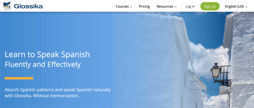 Image Glossika - Spanish Courses Online