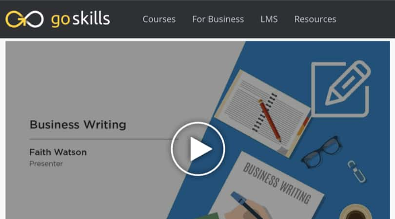 Image Best GoSkills Courses - Business Writing