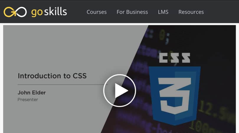 Image Best GoSkills Courses - Introduction to CSS