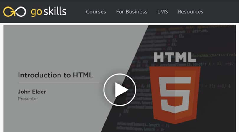 Image Best GoSkills Courses - Introduction to HTML