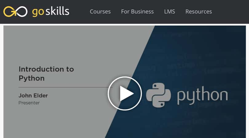 Image Best GoSkills Courses - Introduction to Python