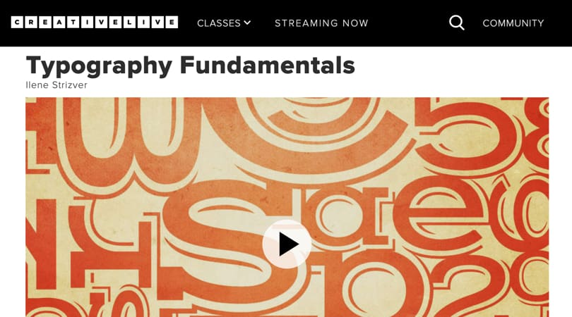 Image Best Graphic Design Courses - CreativeLive - Typography Fundamentals