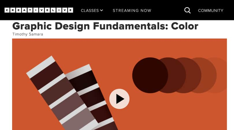Image Best Graphic Design Courses - CreativeLive - Graphic Design Fundamentals Color