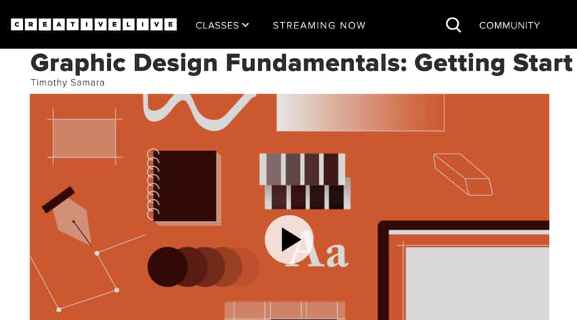 Image Best Graphic Design Courses - CreativeLive - Graphic Design Fundamentals