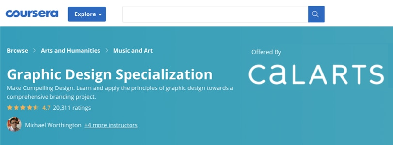 Image Best Graphic Design Courses - Coursera - Graphic Design Specialization