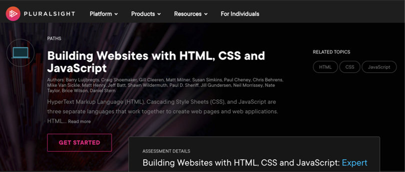 Image HTML & CSS Courses - Build Websites with HTML, CSS, JS - Pluralsight