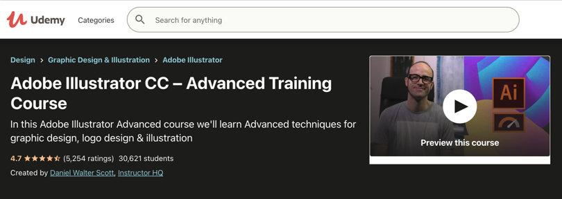 Image Adobe Illustrator Courses CC - Advanced, Udemy
