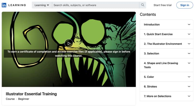 Image Adobe Illustrator Courses - Essentials, Linkedin