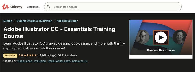 Image Adobe Illustrator Courses CC - Essentials, Udemy