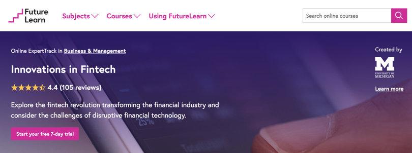 Image Best Fintech Courses - Innovations in Fintech - FutureLearn