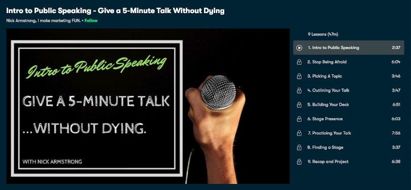 Image of Best Public Speaking Courses Skillshare - Intro to Public Speaking