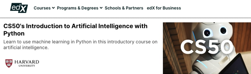 Image Best AI Courses - Introduction to artificial intelligence, Harvard, edX
